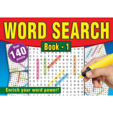 A5 Wordsearch Book Landscape 160p 4 Asst