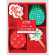 Christmas Cupcake Cases & Toppers