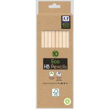 Eco HB Pencils + Eraser Top 10pk