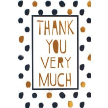 Thank You Cards Text/Dots IW308