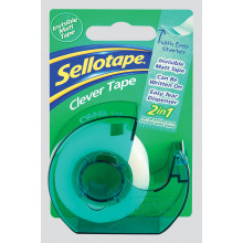 Sellotape Clever 18mmx15m Dispenser