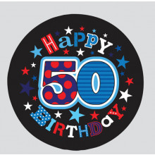 Age 50 Mix 55mm Small Badge