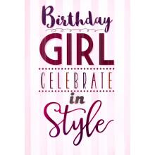 Cards Word Play 23963 Birthday Girl