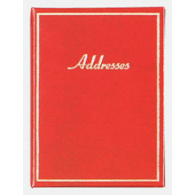 S9906 Book Address Gold Border Med