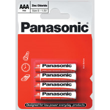 Panasonic AAA Zinc Carbon Batteries Pk 4