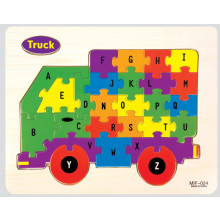 Wood Vehicle Jigsaw Puzzles 4 Assorted