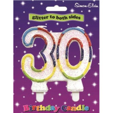Simon Elvin Age 30 Milestone Candle