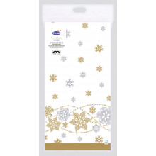 XD05710 Tablecover Snow Glitter White