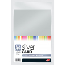 A4 Silver Card 4 Sheets 270gsm