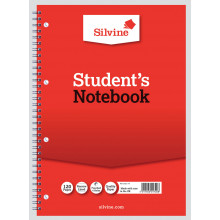 Silvine Spiral Notebook A4 Narrow/Feint