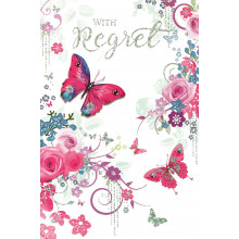 Open Regret Cards Butterfly IW340