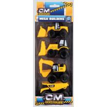 Construction Machines Mega Builders 4 Pack