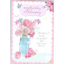 Month Cards 25115-1 February Birthday