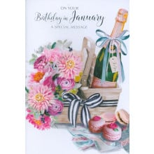 Month Cards 25119-1 January Birthday