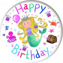 Birthday Mermaid 55mm Small Badges