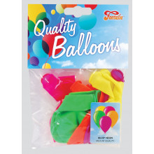 """10"""" Assorted Neon Balloons Pack 10"""