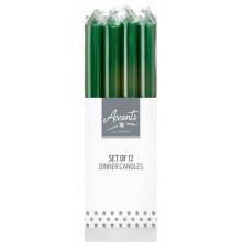 XD05613 Green Metallic Dinner Candle