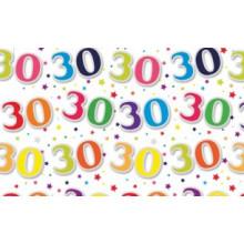 Flat Gift Wrap Sheets Age 30