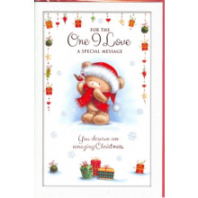 One I Love Fem Cute 75 Xmas Card