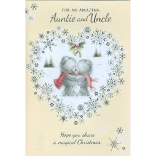 Auntie+Uncle Cute 50 Christmas Cards