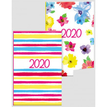 D0409 Pocket WTV Stripes/Floral Diaries