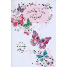 Month Cards 25632-1 August Birthday