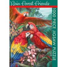 1000pc Jigsaw Puzzle Rain Forest Friends