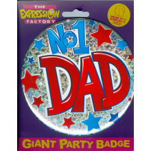 NO 1 Dad 150mm Big Badge