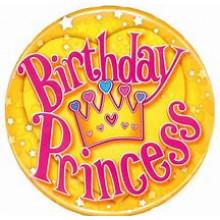 Princess Birthday 150mm Large Badge
