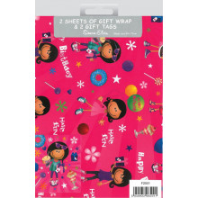 Flat Wrap & Tags Juvenile Girl F2551