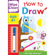 Wipe Clean How To Draw Book With Pen Age 4+ Assorted HOW1-4