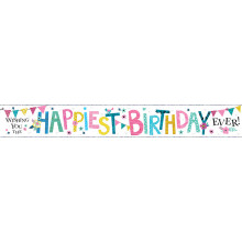 2.5m Happiest Birthday Party Banner