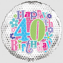 Foil Balloon Age 40 Female