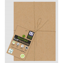 Recycled Kraft Notebook Pack 2