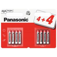 Panasonic AAA Zinc Batteries 4+4 Free