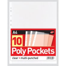 A4 Poly Pockets 10 Pack