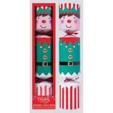 XD05504 Crackers Santa/Elf G/Bread Jumbo