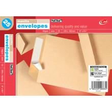 Envelopes Peel & Seal Manilla 229 x 162mm C5 25's