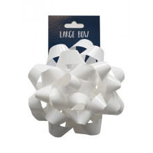 White Large Bow 15cm Carded