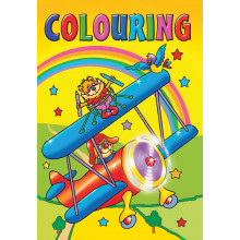 Colouring Books 96 Pages 4 Asst