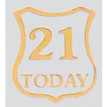 Roman Labels Gold Shield 21 Today