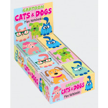 Mini T/wire Notebook Cartoon Cats & Dogs