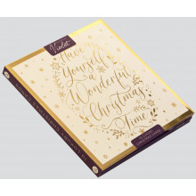 XD01006 10 Golden Glimmer Xmas Cards
