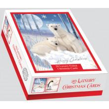 XD00613 Box 20 Snowy Friends Cards