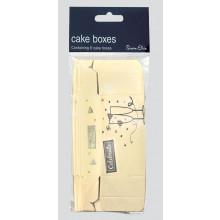 Cream/Silver Cake Boxes 8s