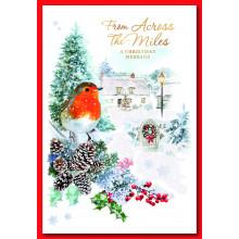Across the Miles Robin 50 Christmas Card