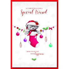 Special Friend Fem Cute 50 Christmas Cards