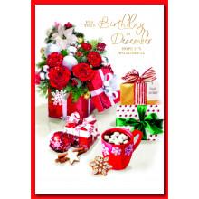 December B'day Fem Trad 50 Christmas Cards