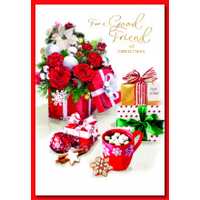 Good Friend Fem Trad 50 Christmas Cards