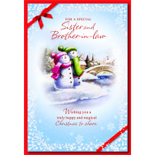 Sister+Brother-I-Law Cute 50 Christmas Cards